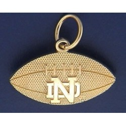 Football Charm with ND logo