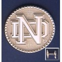 ND Logo with Beaded Bezel Cuff Links