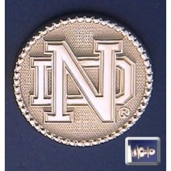 ND Logo with Beaded Bezel Lapel Pin