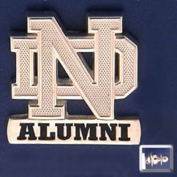 ND Logo Alumni Lapel Pin