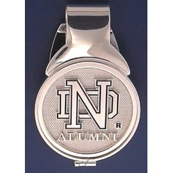 Stainless Steel Money Clip with Sterling Silver ND ALUMNI