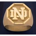 Men's ND Logo Octagon Ring