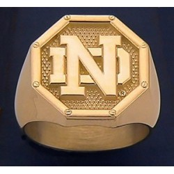 Men's ND Logo Octagon Ring