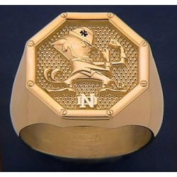 Men's Leprechaun with ND Logo Octagon Ring