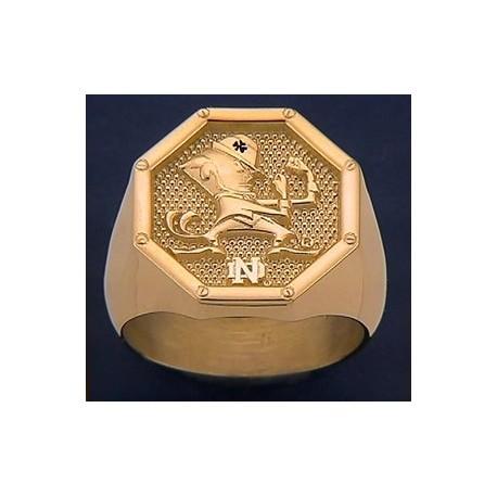 Men's Leprechaun with ND Logo Octagon Ring