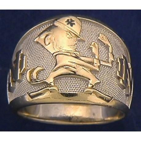 Men's Leprechaun with ND Logo Ring