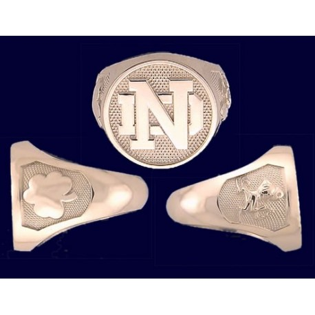 Ladies' ND Logo Ring with Side Panels