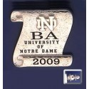 ND Scroll Tie Tack