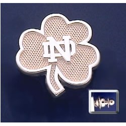 Shamrock Tie Tack with ND Logo