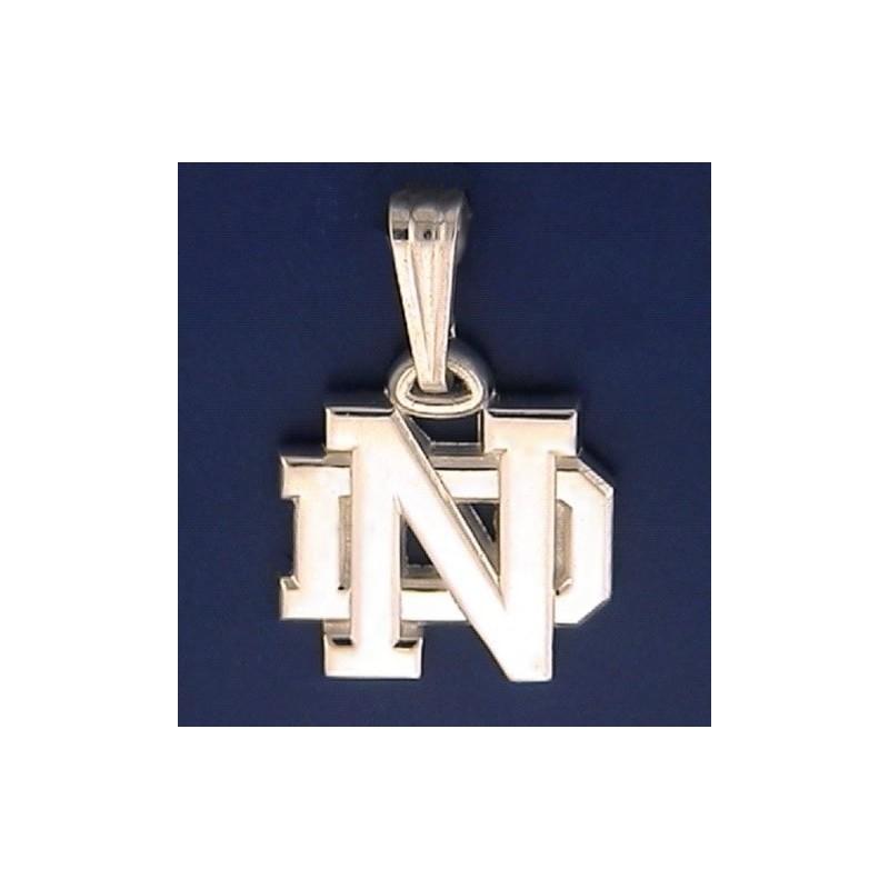 Notre dame pendants by alamo city gold silver fine jewelry nd logo pendant aloadofball Images