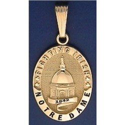 Golden Dome Pendant with Recessed Lettering