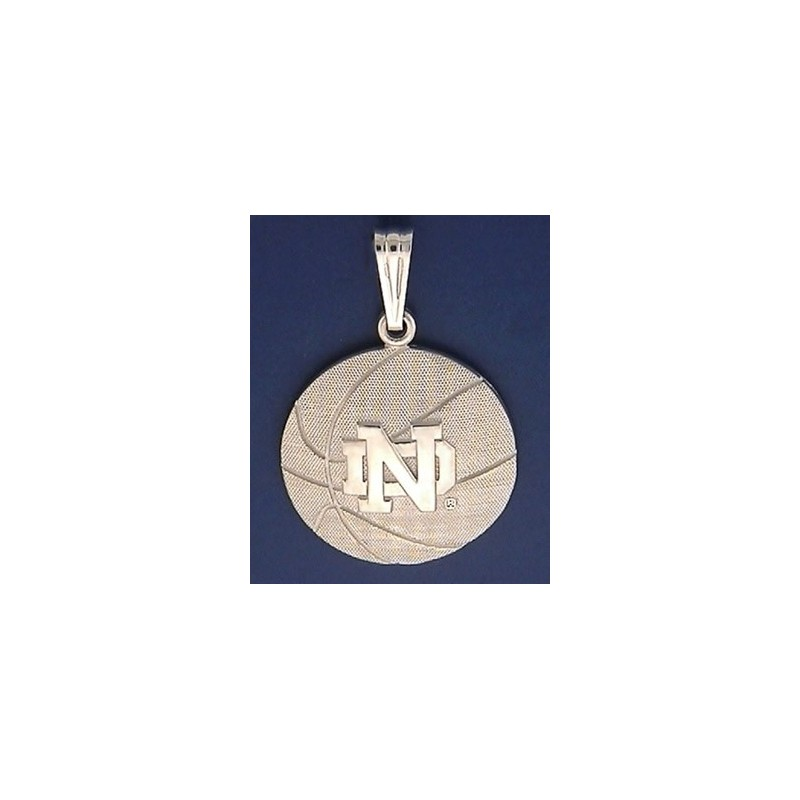 Notre dame basketball pendant with nd logo basketball pendant with nd logo mozeypictures Images
