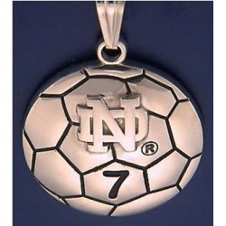 Soccar Ball Pendant with ND Logo