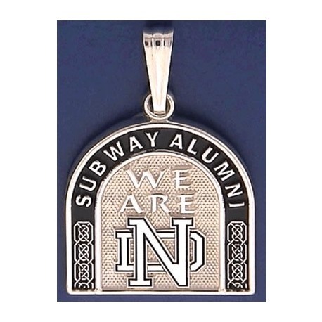 Two-Sided Subway Alumni Pendant with Leprechaun & ND Logo
