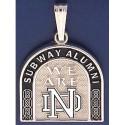 Two-Sided Subway Alumni Pendant with Leprechaun & ND Logo