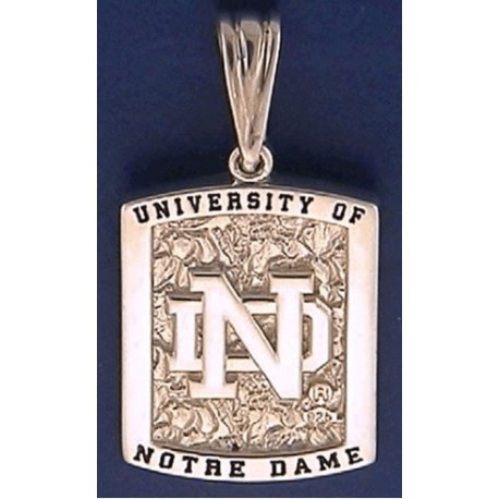 Two-Sided Pendant with ND Logo & Leprechaun