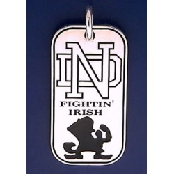 Dog Tag Pendant with ND Logo & Leprechaun