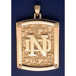 Reversible Pendant with ND Logo & Leprechaun