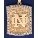 14kt Gold & Diamond Nugget Pendant
