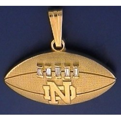 Notre dame fine jewelry notre dame fine jewelry 14kt gold diamond football pendant with nd logo aloadofball Choice Image
