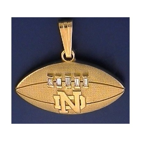 14kt gold diamond football pendant with nd logo 14kt gold diamond football pendant with nd logo aloadofball Image collections