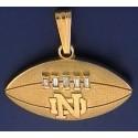 14kt Gold & Diamond Football Pendant with ND Logo