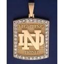 14kt Gold & Diamond ND Fighting Irish Pendant