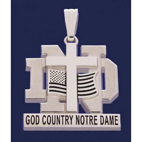 Layered God, Country, Notre Dame Pendant