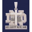 Layered God, Country, Notre Dame® Pendant