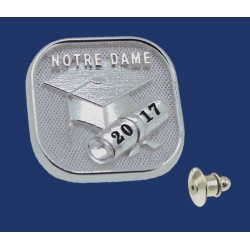 ND Graduation With Year Tie Tack