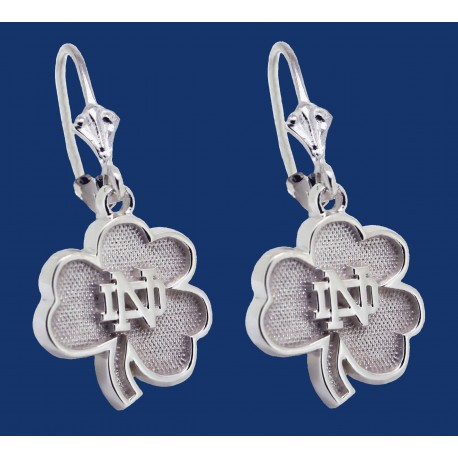 New Shamrock with ND logo Earrings