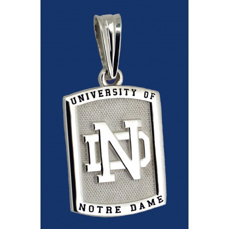 Two-Sided Pendant with ND Logo & Golden Dome
