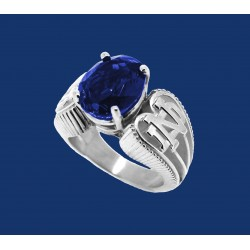 Ladies Fancy Stone Ring With ND on Sides