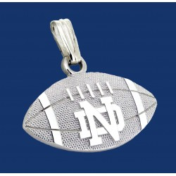 Striped Football Pendant with ND Logo