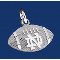 Striped Football Charm with ND logo