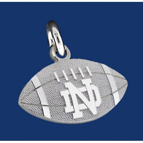 Stripped Football Charm with ND logo
