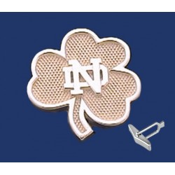 Shamrock Cuff Links with ND Logo