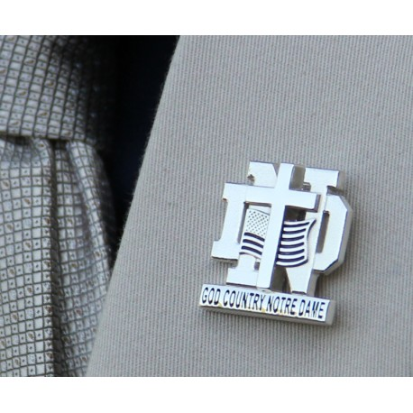 Layered God, Country, Notre Dame Lapel Pin