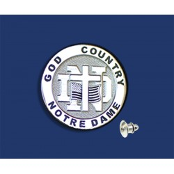 Round God, Country, ND Lapel Pin
