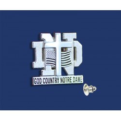 Layered God, Country, Notre Dame Tie Tack