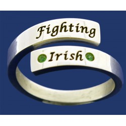 Ladies Wrap Band with Fighting Irish & Stones