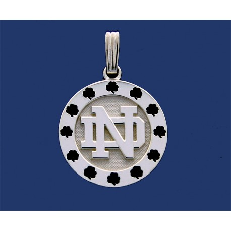 ND Surrounded by Shamrocks Pendant