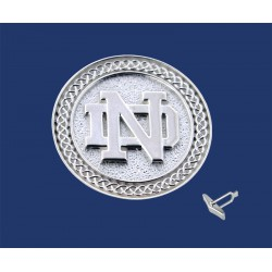 ND Logo with Celtic Border Cuff Links
