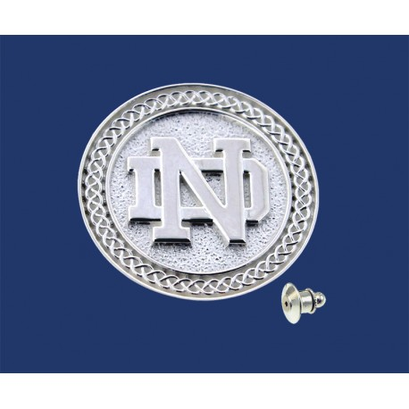 ND Logo with Celtic Border Tie Tack