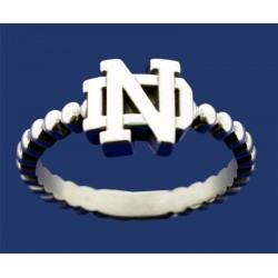 Ladies Beaded Ring with ND Logo
