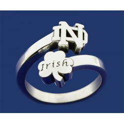 Ladies Wrap Band with ND Logo & Irish in Shamrock