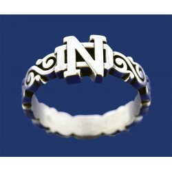 Ladies Swirl Band with ND Logo