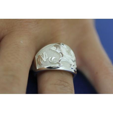 Ladies' Leprechaun with ND Logo Ring