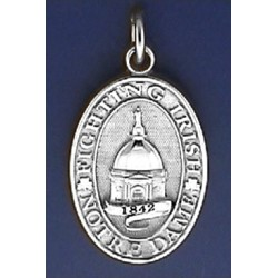 Dome Charm with Recessed lettering