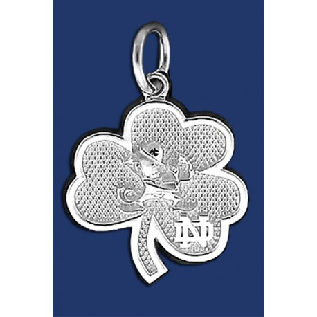 New Leprechaun and ND Shamrock Charm
